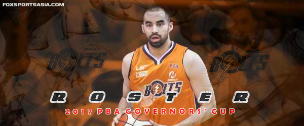 List of Meralco Bolts Roster 2017 PBA Governors' Cup