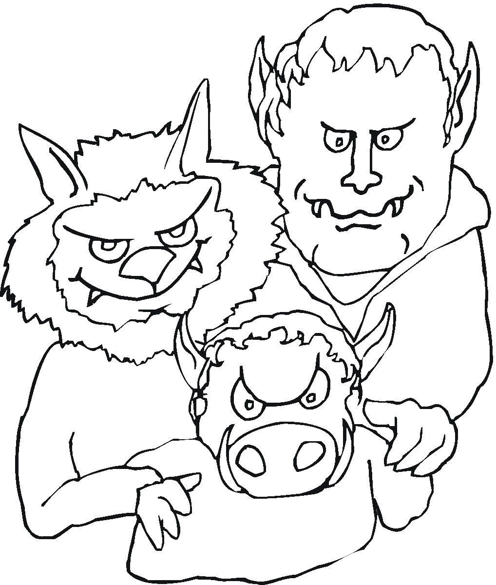 desenhos de zumbis para colorir