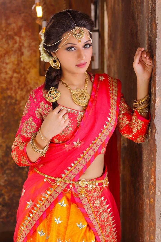 Reshma Photo Shoot In Sexy Red Half Saree