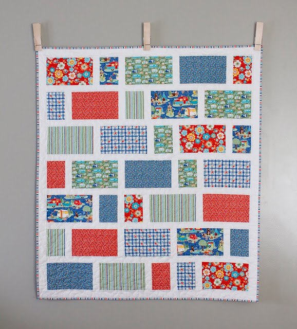 Zoo Dwellers - a free baby quilt pattern from Andy of A Bright Corner