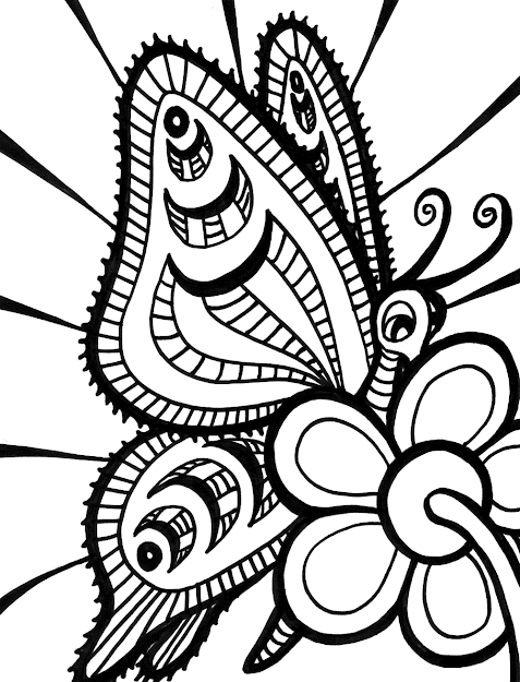 Adult Coloring Pages Butterflies Butterfly Coloring Pages Kids And