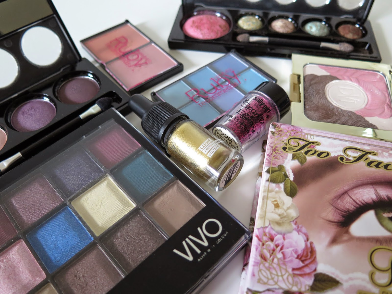 make-up, beauty products
