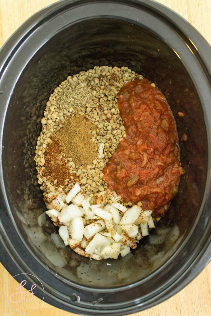 #GlutenFree + #Vegan Crock Pot Lentil Tacos
