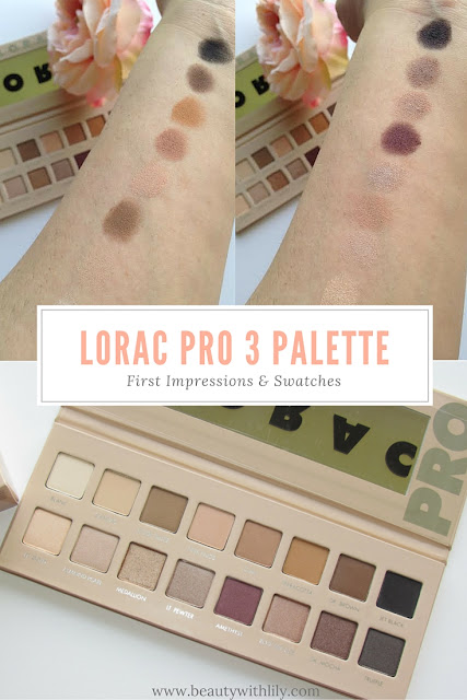 First look and swatches of the NEW Lorac Pro 3 Palette | beautywithlily.com