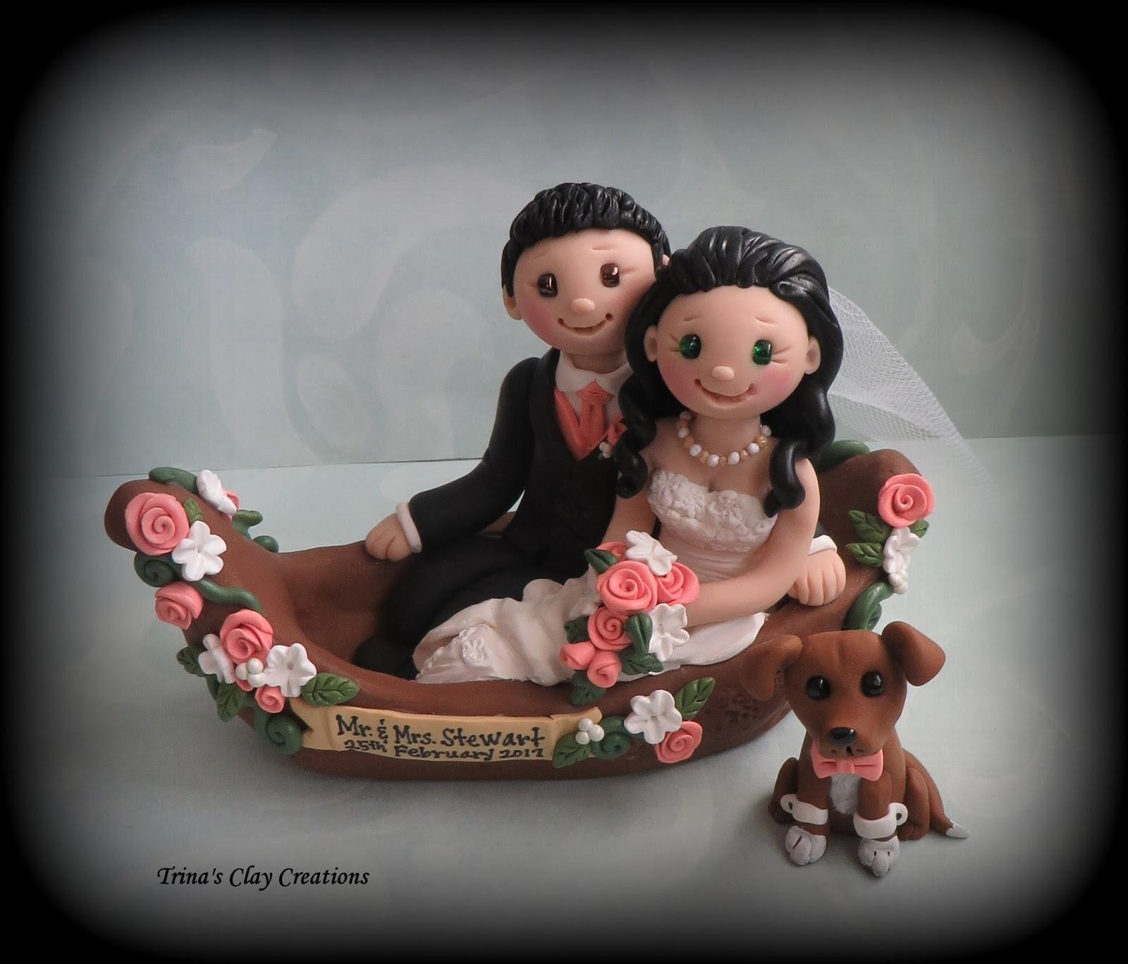 Gondola Wedding Cake Topper