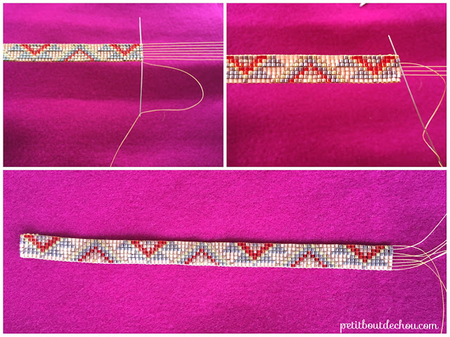hide wrap threads in the beadwork