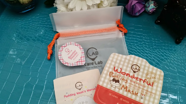 C Lab Wonderful Pudding Mask, pouch, booster powder, pamphlet