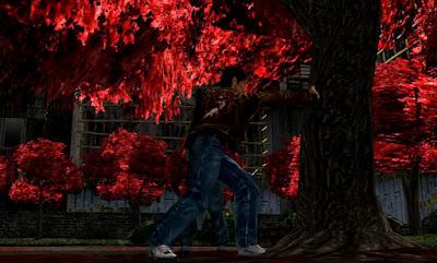 Ryo applies the Iron Palm in Lotus Park