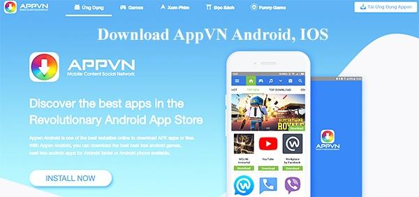 APPVN: Download AppVN, kho ứng dụng Việt về máy IOS 10, 11