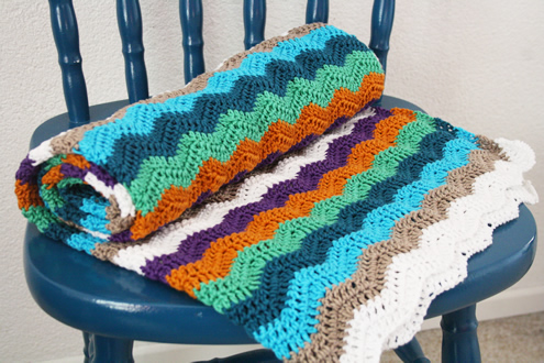 Crochet: ripple stitch blanket