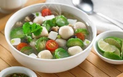 Resep Sup Oyong (Cememes/Gambas) + Baso Ikan Segarrr…!!!