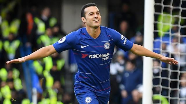 Pedro Celebrates Chelsea Goal