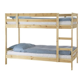Limón Decó: Habitaciones con litera MYDAL de Ikea