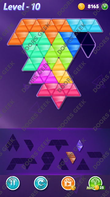Block! Triangle Puzzle 9 Mania Level 10 Solution, Cheats, Walkthrough for Android, iPhone, iPad and iPod