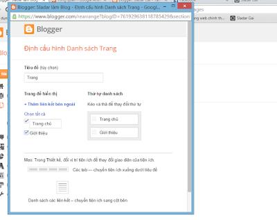 Phát triển Blog: Làm việc với tab Trang