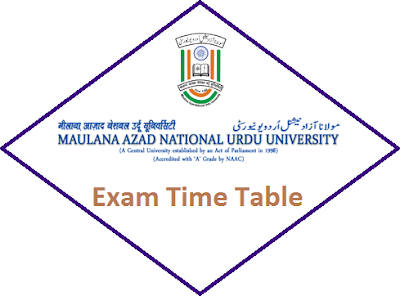 MANUU Time Table 2020 of Regular/Distance