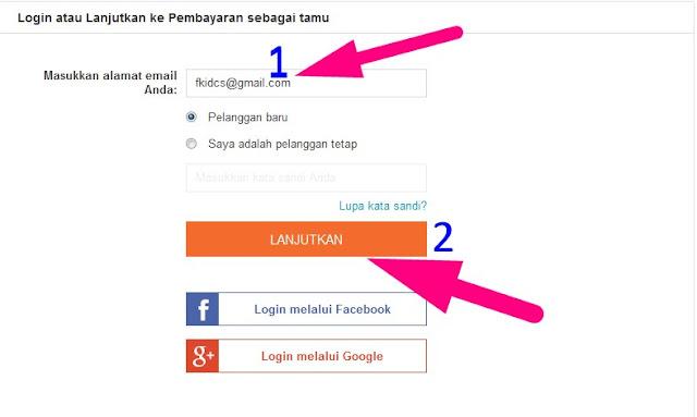 contoh cara belanja online di lazada lengkap dengan gambar