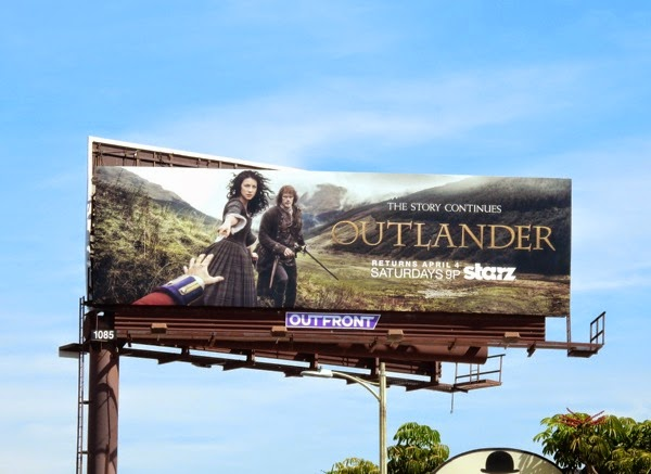 Outlander midseason 1 Starz billboard