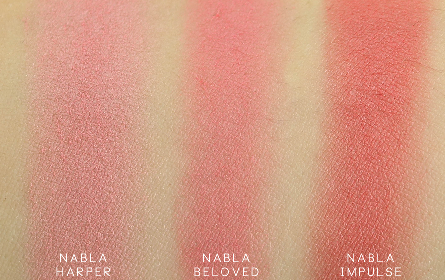 Nabla Goldust Blush Harper swatch