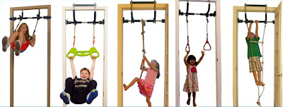 Indoor swing set for doorways