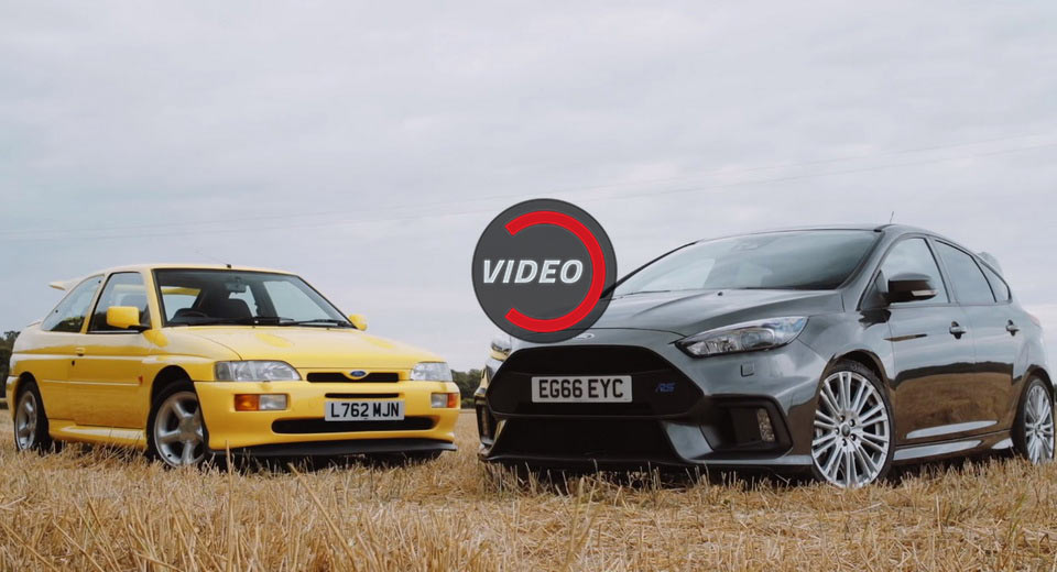 Ford Focus Rs Meets The Escort Rs Cosworth In Family Reunion