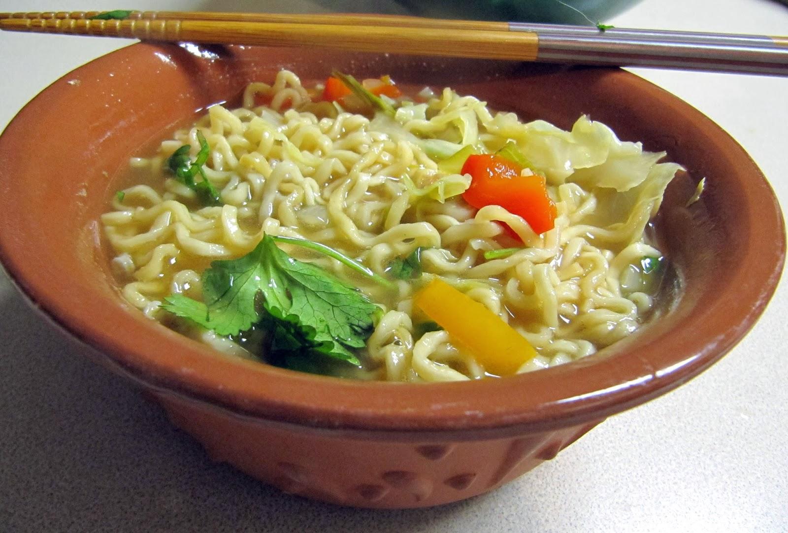 Grad Gastronomy: Hot & Sour Soup with Cilantro Noodles