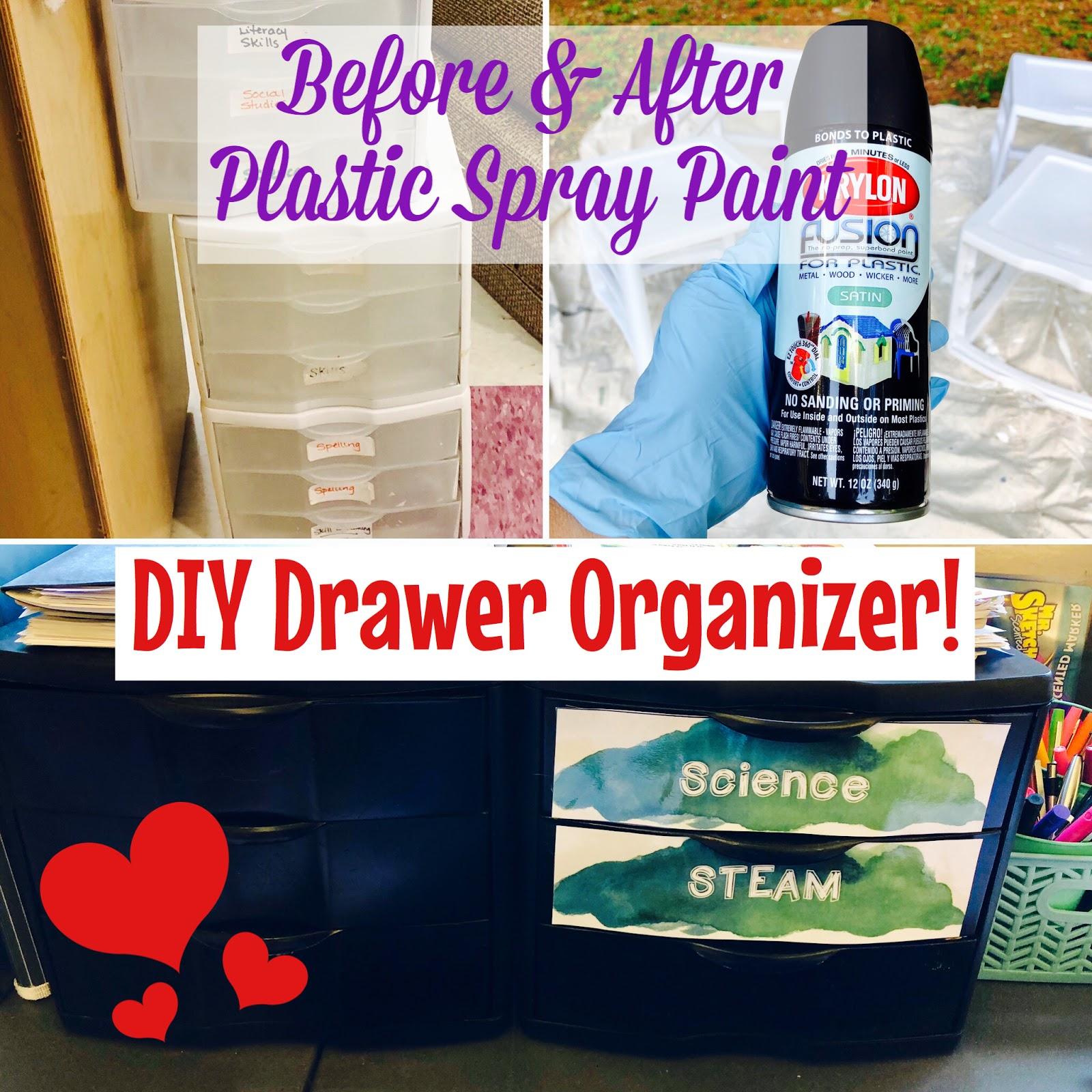 DIY Plastic Drawer Organizer UPGRADE Classroom Decor on a