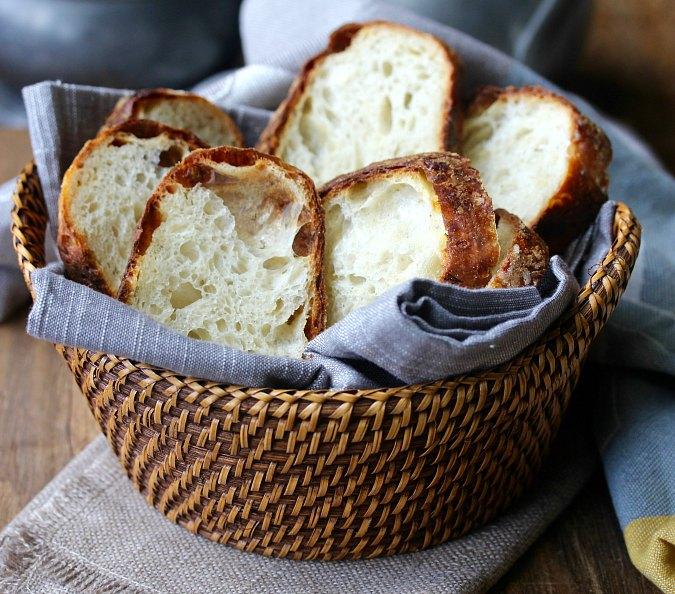 Cheesy Dill and White Cheddar Sourdough Bread slices