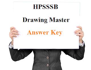 HPSSSB Drawing Master Answer key