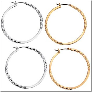 Avon Twisted Hoop Earrings