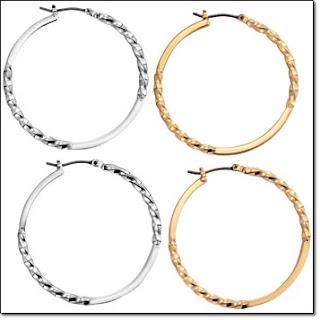 Avon Twisted Hoop Earrings