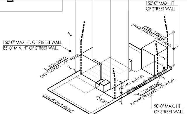 Plan showing new building location on the site