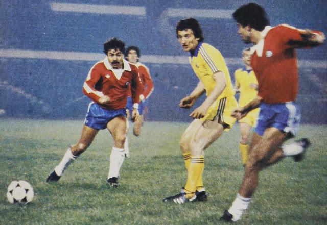 Chile y Rumania en partido amistoso, 18 de mayo de 1982