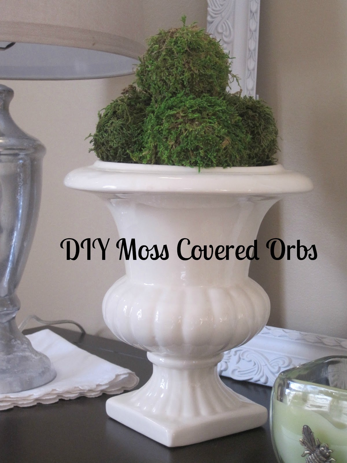 10 Ways To Decorate With Green Moss: Decorated Chaos: DIY Moss Covered Orbs