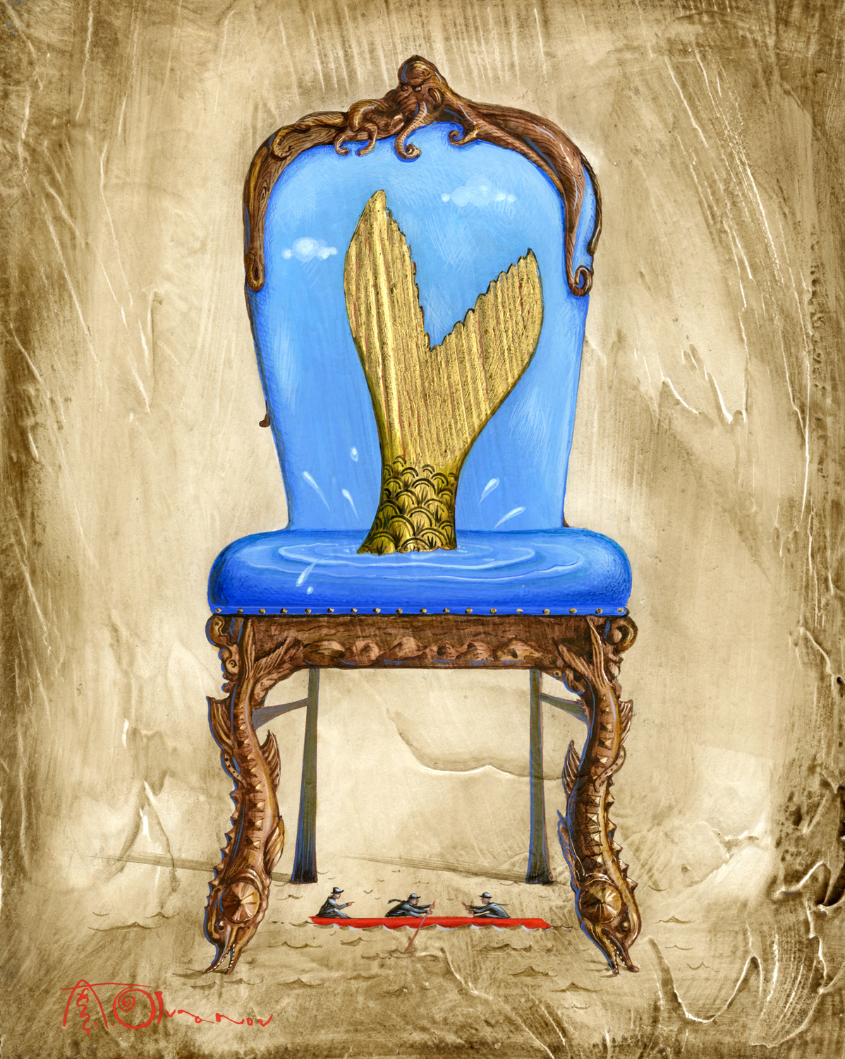 the mermaid chair most expensive gaming olga and aleksey ivanov art new egg tempera paintings from