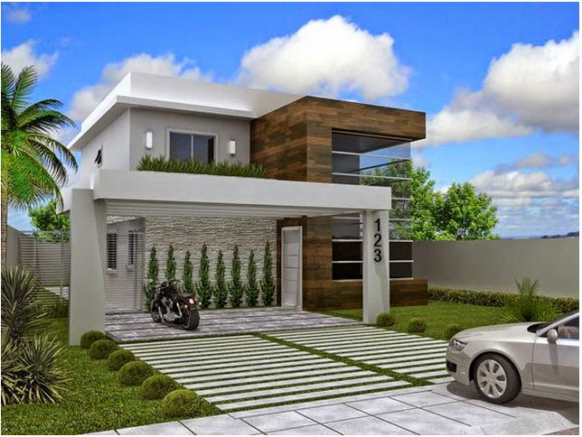 Construindo minha casa clean fachadas de casas quadradas for Fachadas para residencias