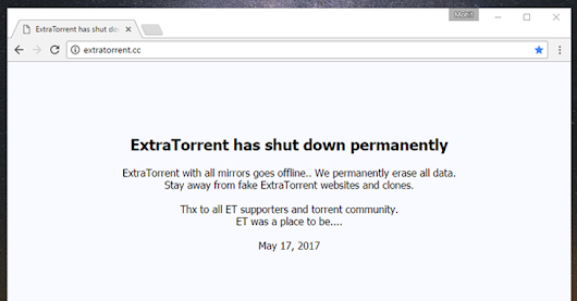 ExtraTorrent, Popular Torrent Site, Permanently Shuts Down!