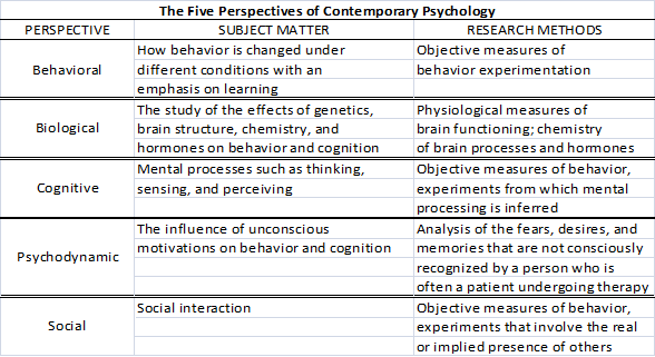 The Four Major Theoretical Perspectives Of Social Psychology