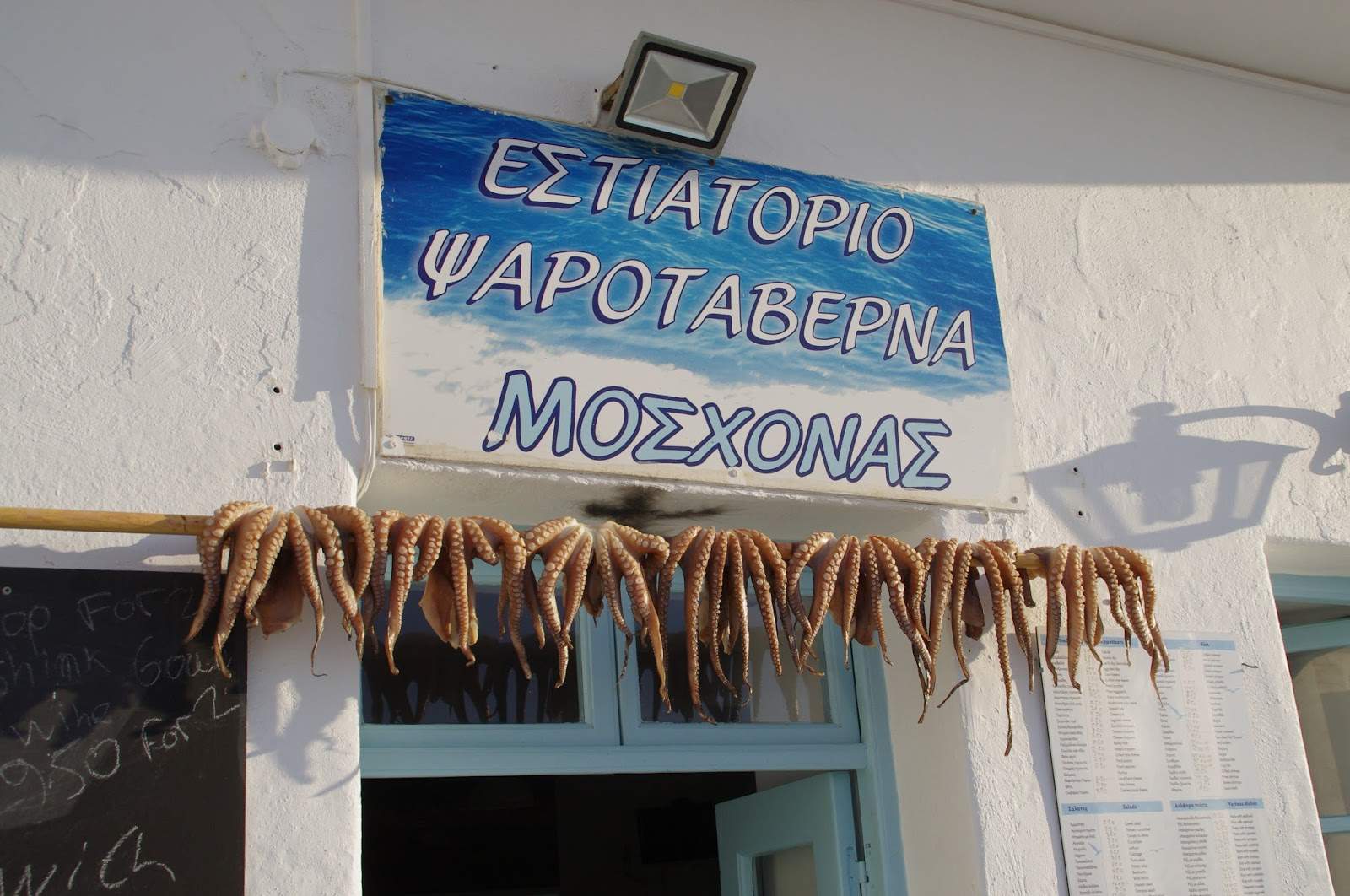 Octopus in Naoussa Paros