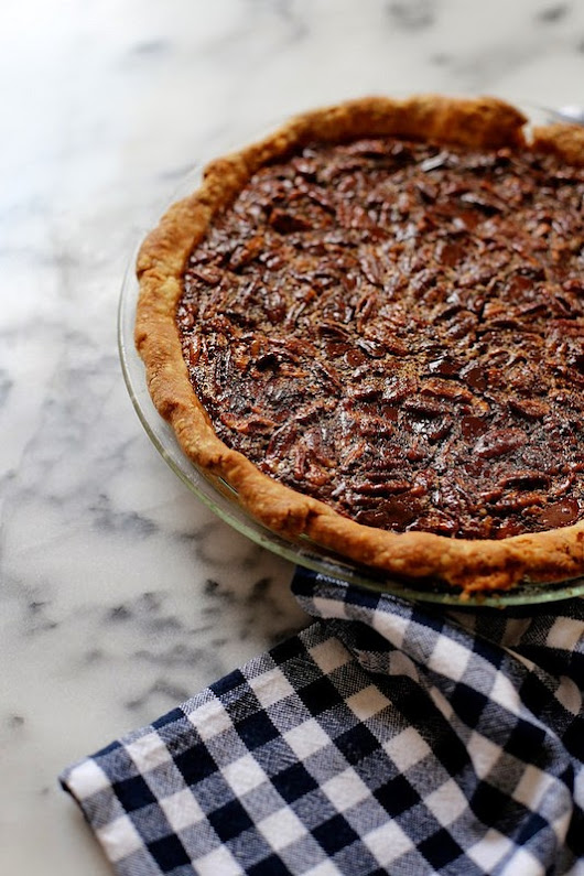 Dreaming of Bourbon Pecan Pie with Dark Chocolate.....