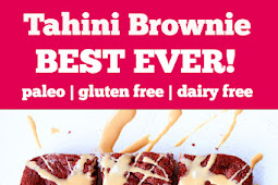 The Best Gluten Free Tahini Brownies (Paleo) #glutenfree #tahini #brownies #paleo #dairyfree #desserts