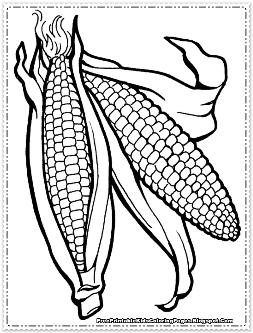 Corn Coloring Pages Corn Coloring Pages Printable  Free Printable Kids Coloring Pages