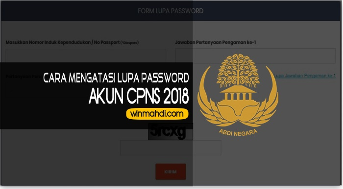 Lupa Password Akun CPNS