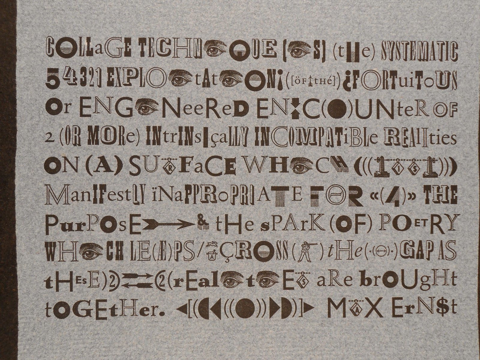 A page of text in variable, blocky letters.