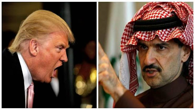 كيف أنقذ الوليد بن طلال ترامب من الإفلاس مرتين؟ قال ابن طلال إنه سيترك ثروته البالغة 32 مليار دولار للنساء!