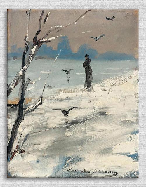 Louise Abbema Şık Bayan Karda Yürüyüşte