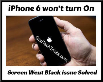 iphone 6 won't turn on