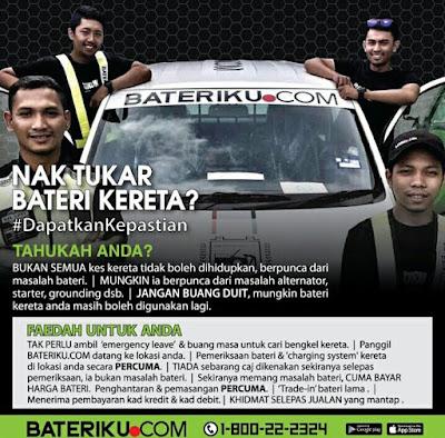 Bateriku.com Servis Terbaik Periksa Bateri Kong