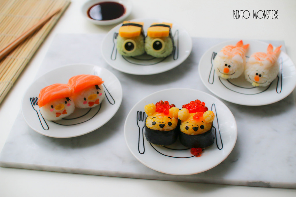 02-Disney-Tsum-Tsum-Sushi-Li-Ming-Lee-Kyaraben-Bento-Monsters-Themed-Lunch-Art-www-designstack-co