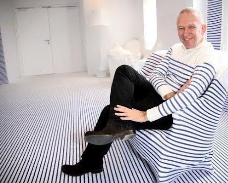 Gaultier at Elle Deco Suite with stripes